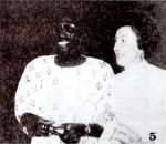 Dr. Vince C. B. Nwuga, wearing his National dress for the occasion, with Mrs. Audrey Woodward.